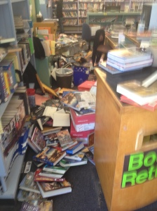 The earthquake damage at Harvest Elementary.