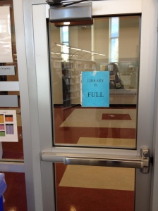 These days, the library is so popular, it frequently reaches the fire marshall's capacity